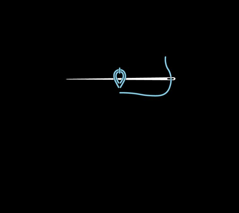 Heavy chain stitch method stage 4 illustration