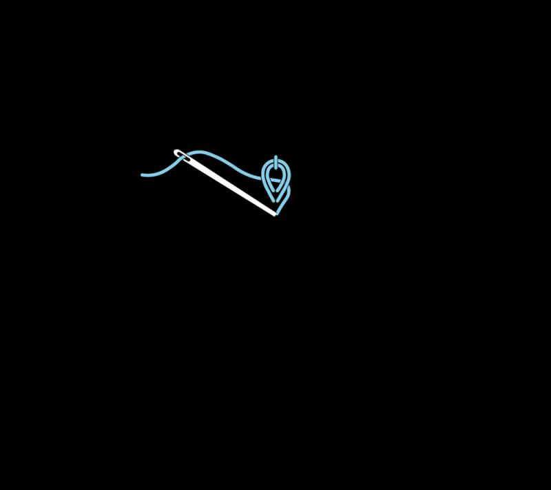 Heavy chain stitch method stage 5 illustration