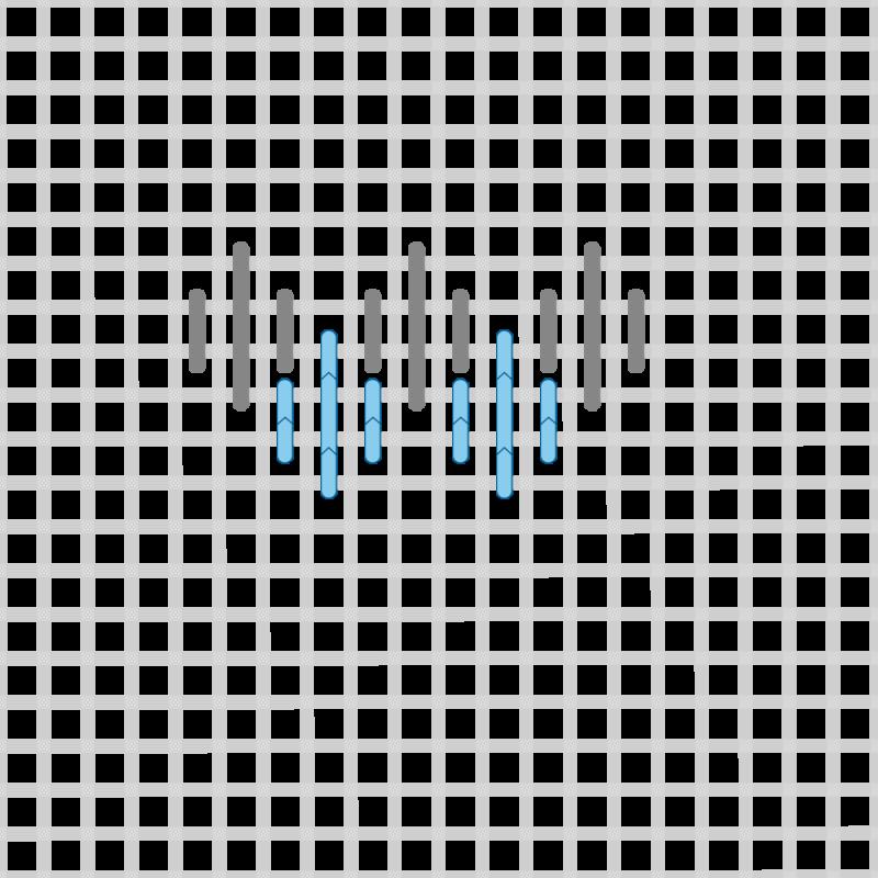 Hungarian stitch method stage 10 illustration