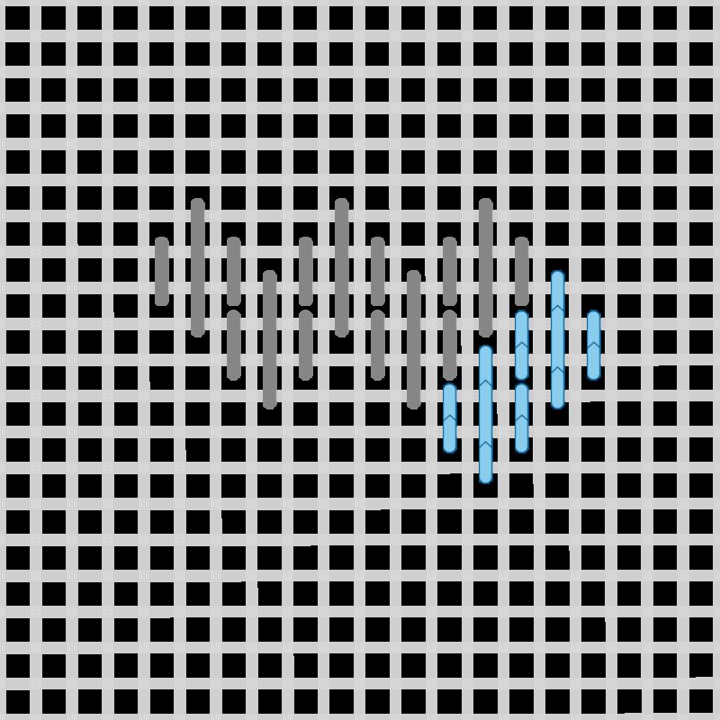 Hungarian stitch method stage 11 illustration