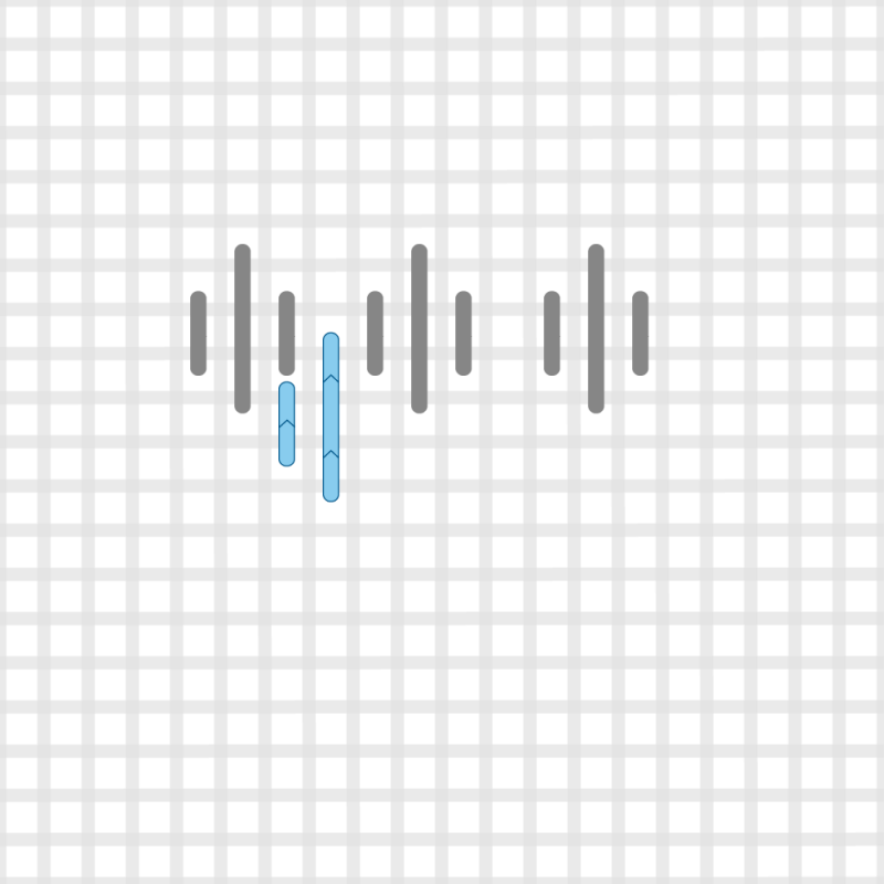 Hungarian stitch method stage 8 illustration