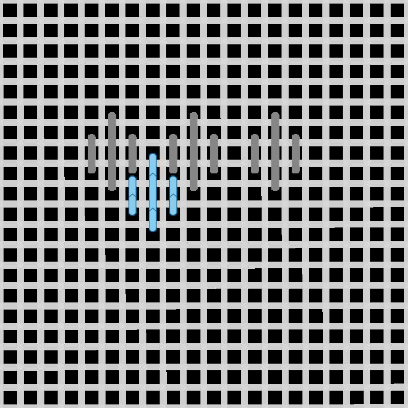 Hungarian stitch method stage 9 illustration