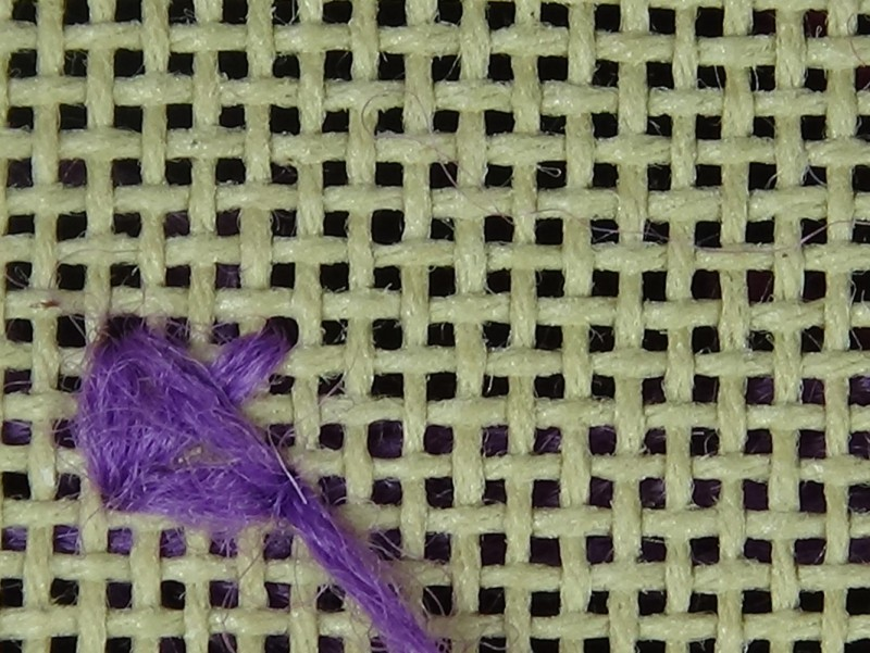 Two-sided Italian cross stitch method stage 4 photograph