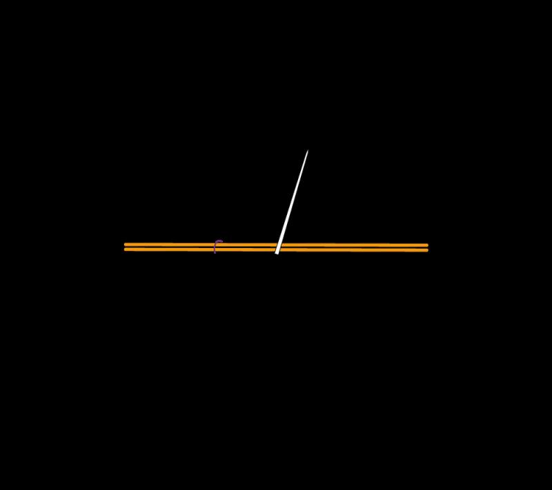 Metal thread couching (goldwork) method stage 2 illustration