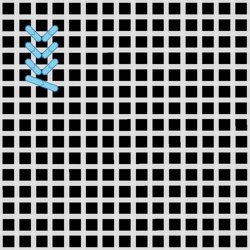 John stitch method stage 3 illustration
