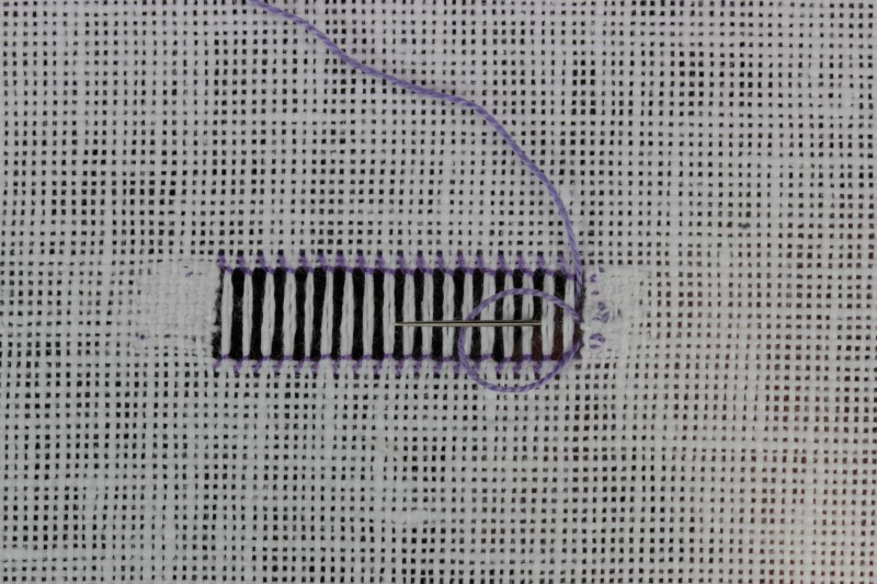 Knotted border method stage 4 photograph