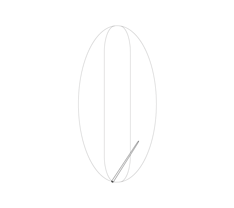 Leaf stitch (surface) method stage 1 illustration
