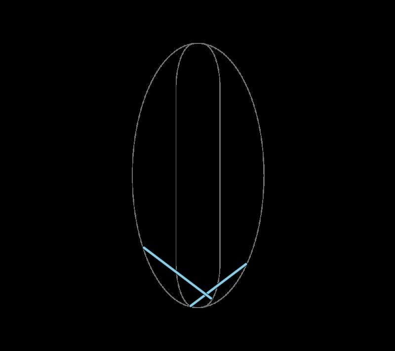 Leaf stitch (surface) method stage 3 illustration