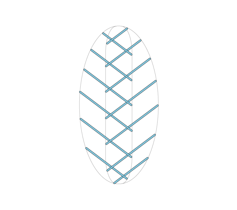 Leaf stitch (surface) method stage 5 illustration