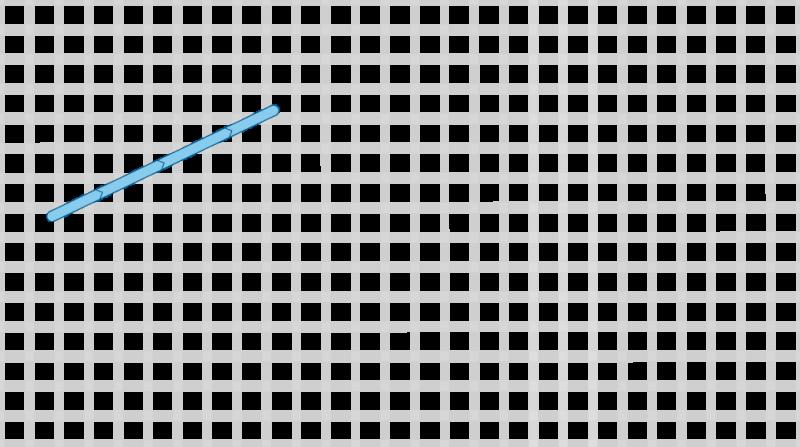 Long-armed cross stitch method stage 1 illustration