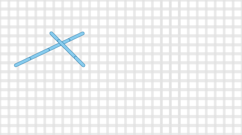 Long-armed cross stitch method stage 3 illustration