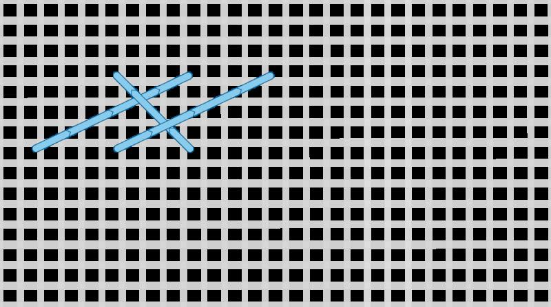 Long-armed cross stitch method stage 5 illustration