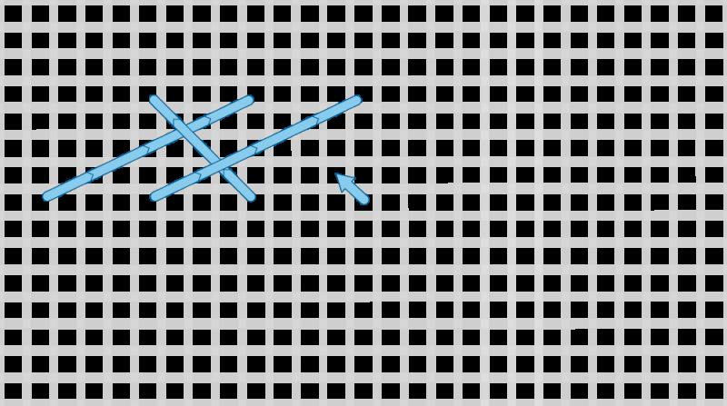 Long-armed cross stitch method stage 6 illustration