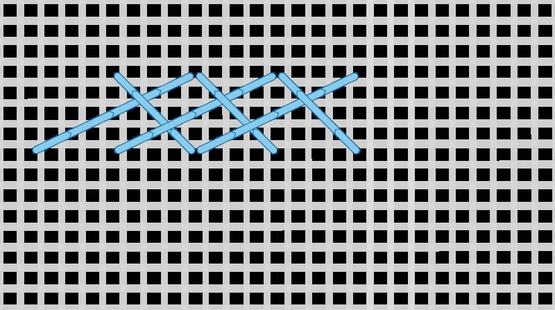 Long-armed cross stitch method stage 7 illustration