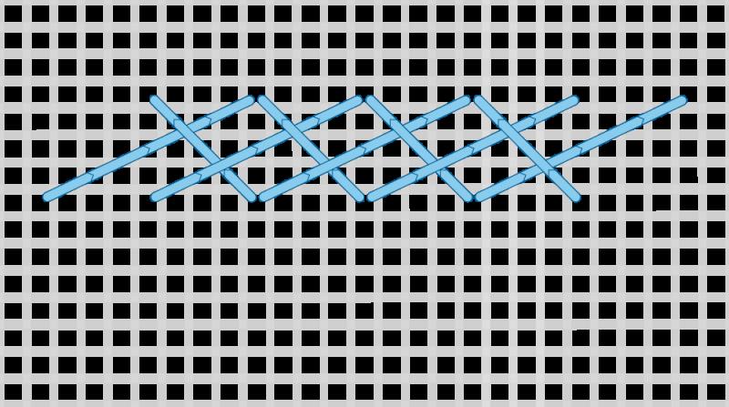 Long-armed cross stitch method stage 8 illustration
