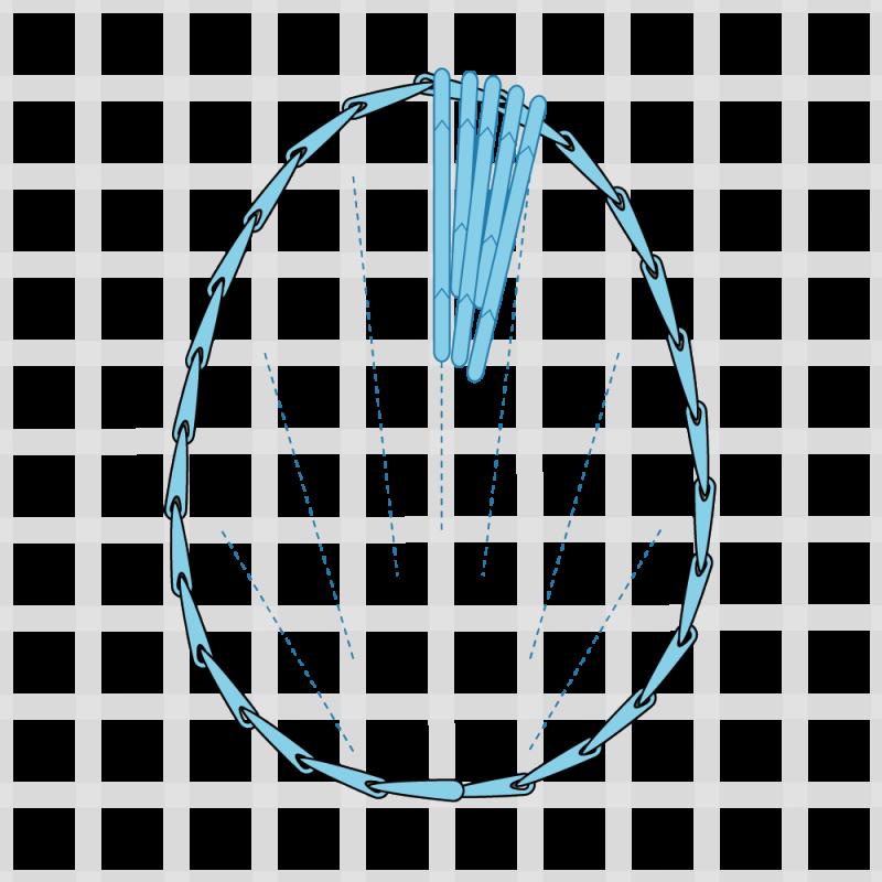 Long and short stitch method stage 4 illustration