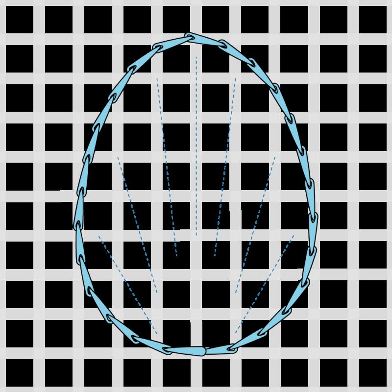 Long and short stitch method stage 2 illustration