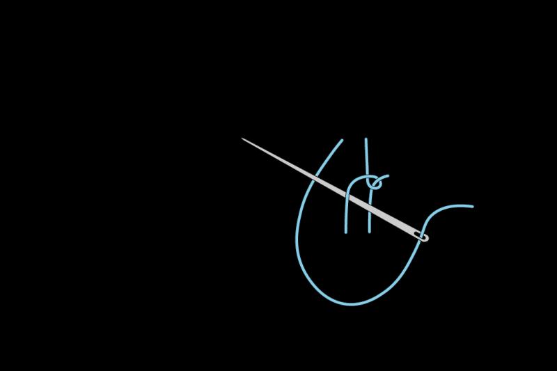 Loop stitch method stage 3 illustration