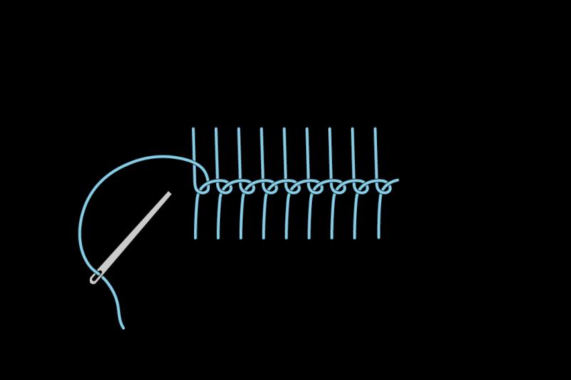 Loop stitch method stage 5 illustration