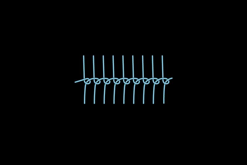Loop stitch method stage 6 illustration