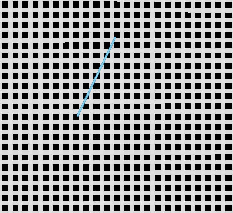 Maltese cross stitch method stage 1 illustration