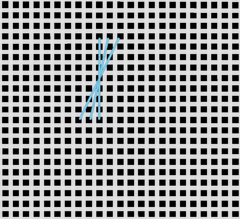 Maltese cross stitch method stage 2 illustration