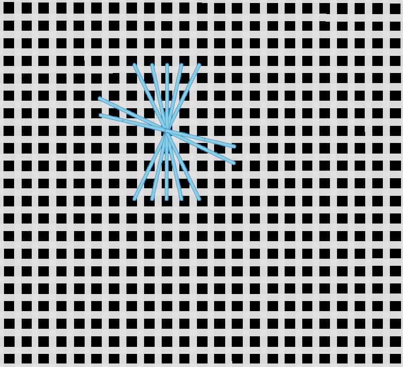 Maltese cross stitch method stage 5 illustration
