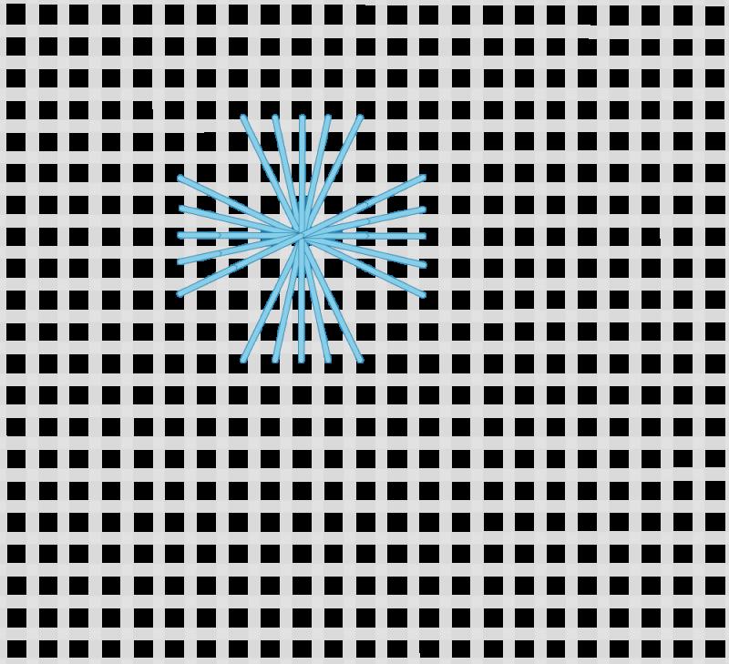 Maltese cross stitch method stage 6 illustration