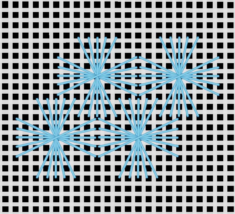Maltese cross stitch method stage 7 illustration