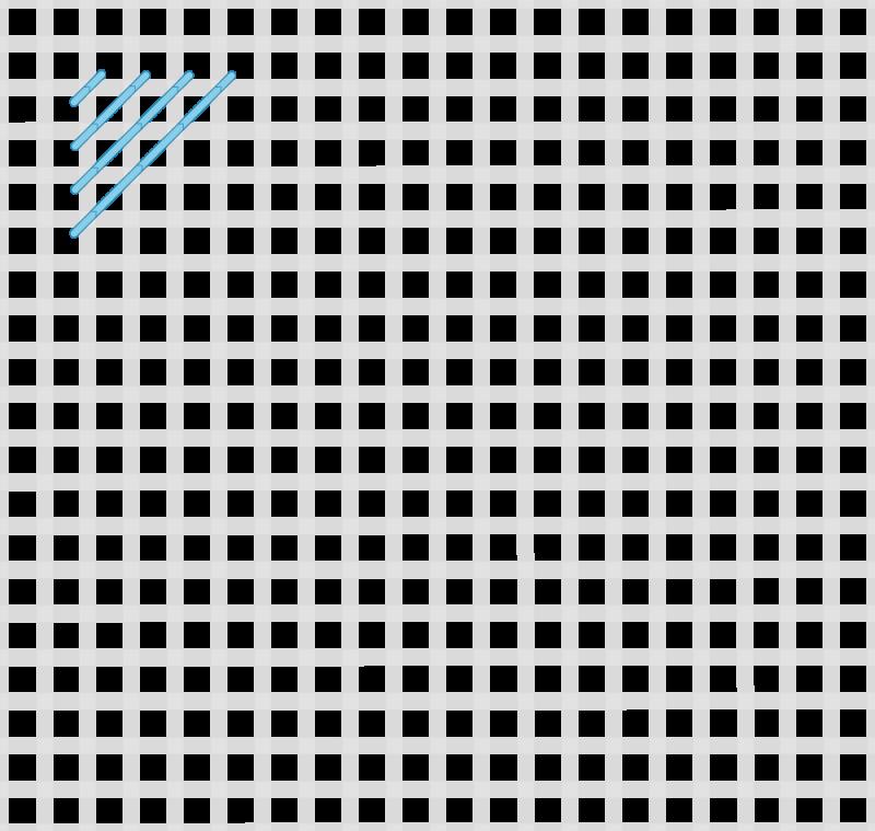 Milanese stitch method stage 2 illustration