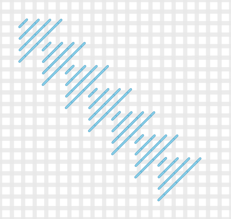 Milanese stitch method stage 3 illustration