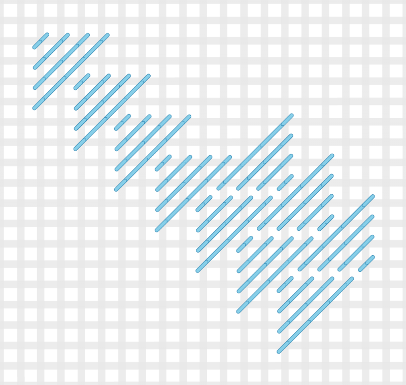 Milanese stitch method stage 4 illustration