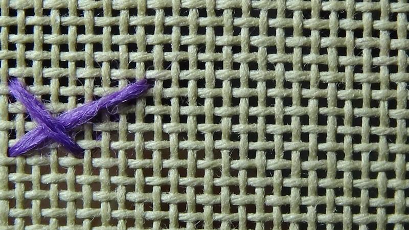 Montenegrin stitch method stage 2 photograph