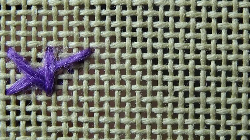 Montenegrin stitch method stage 4 photograph