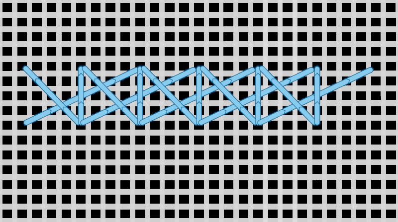 Montenegrin stitch method stage 10 illustration