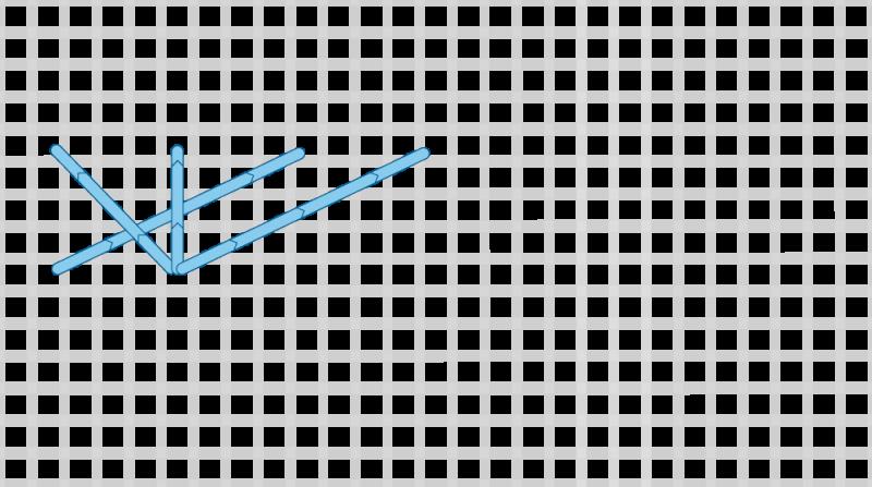 Montenegrin stitch method stage 6 illustration