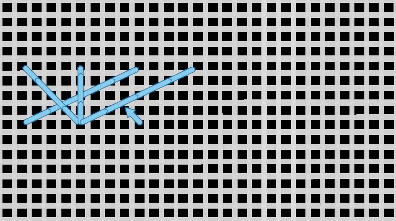 Montenegrin stitch method stage 7 illustration