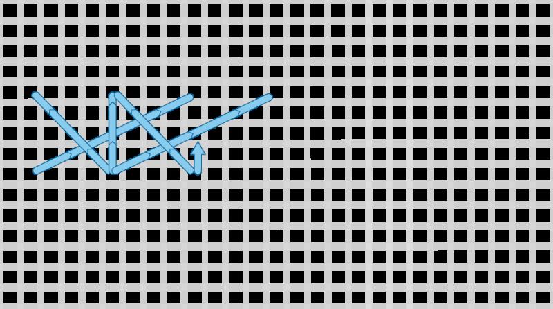Montenegrin stitch method stage 8 illustration