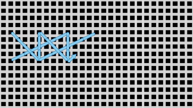 Montenegrin stitch method stage 9 illustration