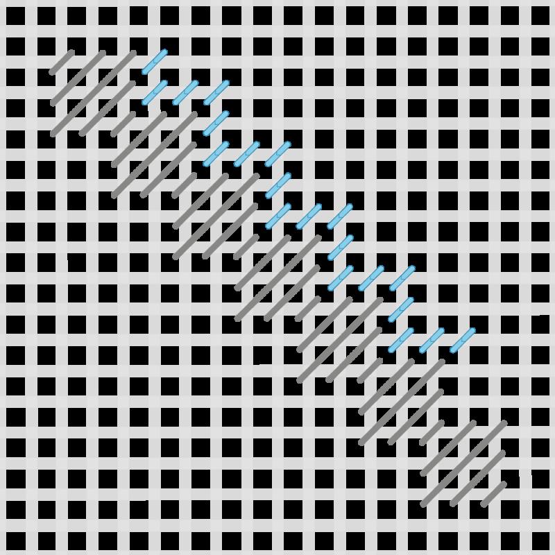 Moorish stitch method stage 3 illustration