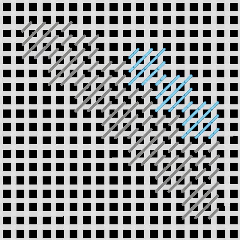 Moorish stitch method stage 4 illustration