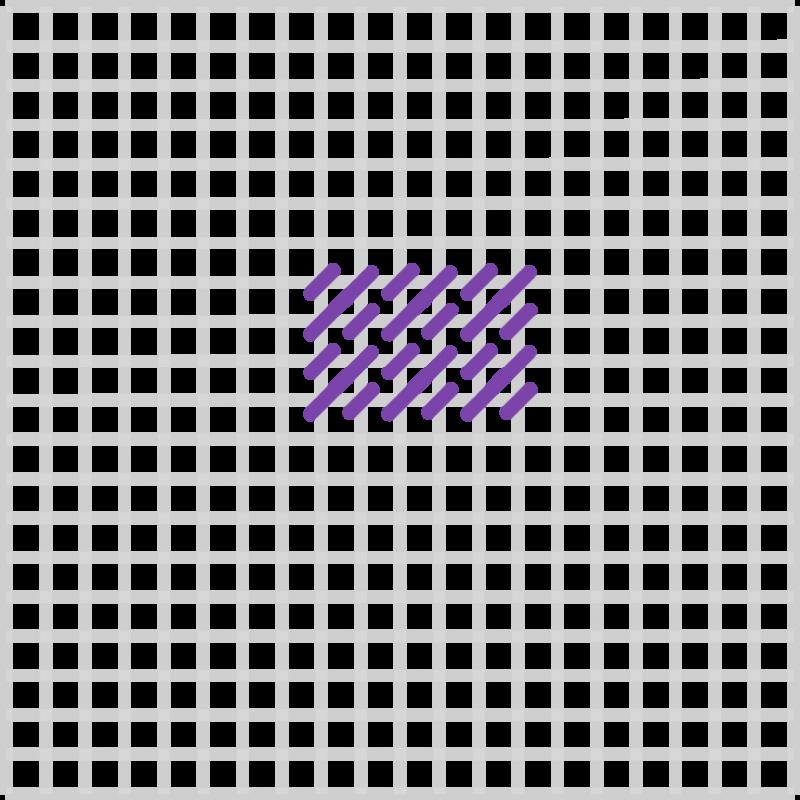 Mosaic stitch method stage 6 illustration