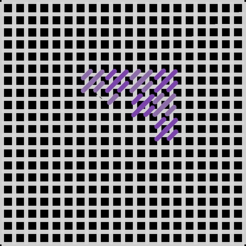Mosaic stitch method stage 8 illustration