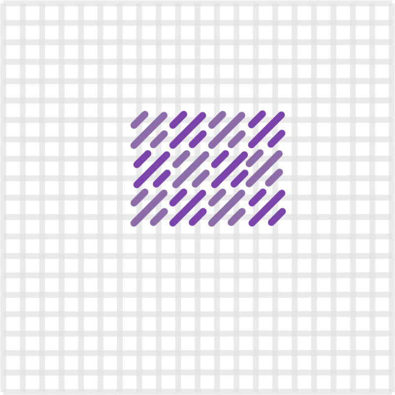 Mosaic stitch method stage 10 illustration