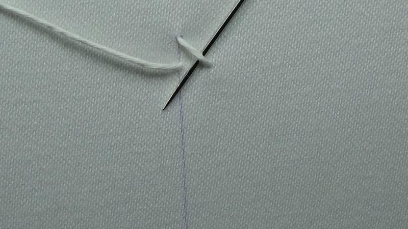 Mountmellick stitch method stage 3 photograph