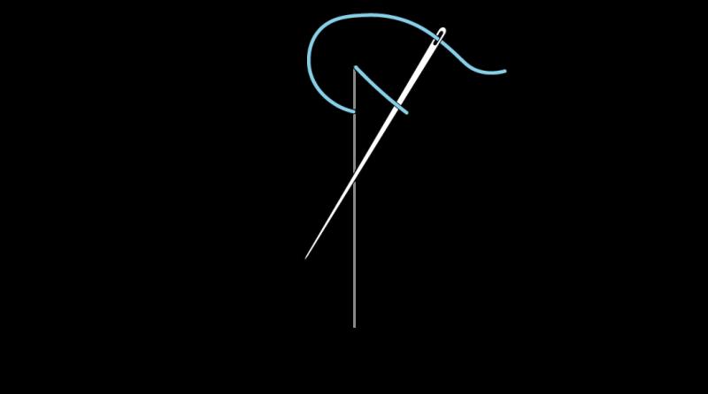 Mountmellick stitch method stage 3 illustration