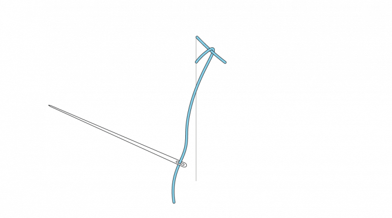 Mountmellick stitch method stage 4 illustration