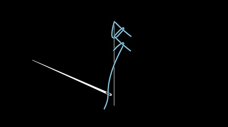 Mountmellick stitch method stage 10 illustration