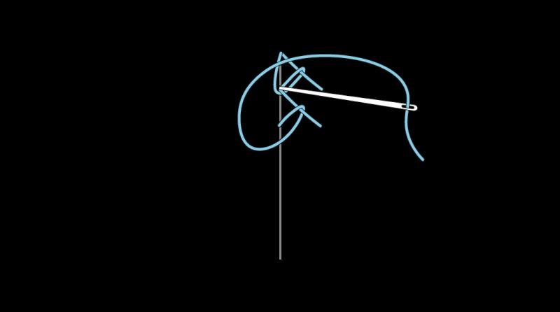 Mountmellick stitch method stage 11 illustration