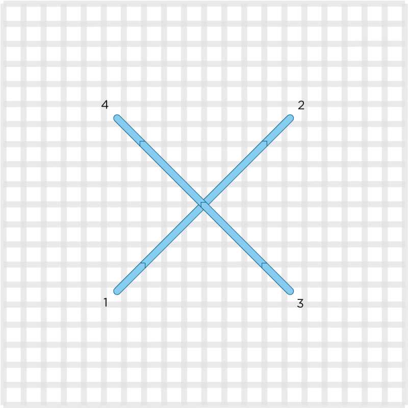 Norwich stitch method stage 2 illustration